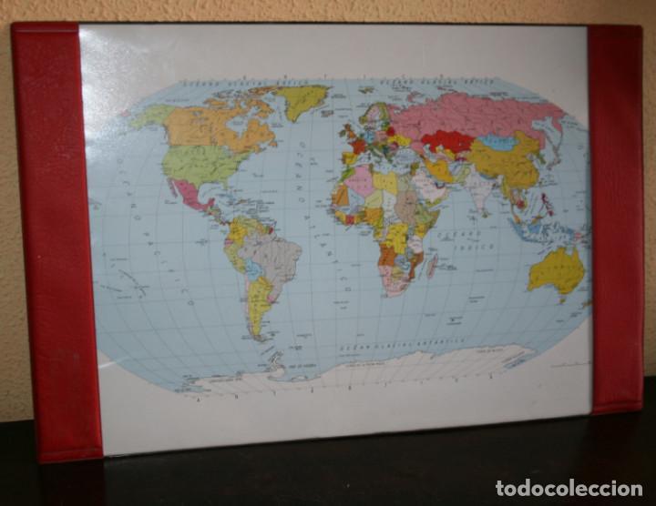 mapamundi vintage plastificado para escritorio  Comprar Carteles