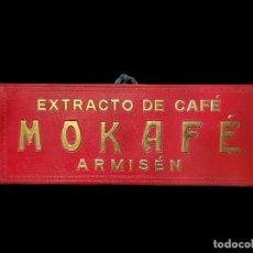 Carteles: ANTIGUO CARTEL TROQUELADO MOKAFÉ, ARMISÉN , ZARAGOZA.UNICO EN TODOCOLECCIÓN. Lote 75907895