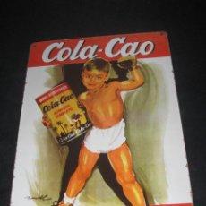 Carteles: CARTEL CHAPA DE COLA CAO. 30CM POR 20CM. Lote 76856443