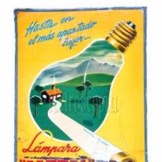 Carteles: CHAPA PLACA EN RELIEVE PUBLICIDAD LAMPARA METAL *LA NOVIA DEL SOL* G. DE ANDREIS. AÑOS 40 - 50. Lote 76911471