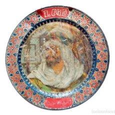 Carteles: CHAPA PLACA CARTEL PLATO PUBLICIDAD EL CAFETO. C. DE SIMON MARTINEZ. R TESSURI. MADRID AÑOS 20 - 30. Lote 199207473