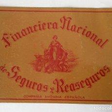 Plakate - PLACA CHAPA PUBLICIDAD SEGUROS. FINANCIERA NACIONAL DE SEGUROS Y REASEGUROS. - 80310929