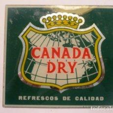 Carteles: CARTEL PUBLICIDAD CANADA DRY (REFRESCO) CRISTAL. Lote 120041423