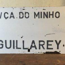Carteles: CARTEL DIRECCIONAL TREN GUILLAREY - VALENÇA DO MINHO. Lote 80628678