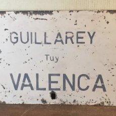Carteles: CARTEL DIRECCIONAL TREN ENTRE GUILLAREY Y VALENÇA. Lote 80629350