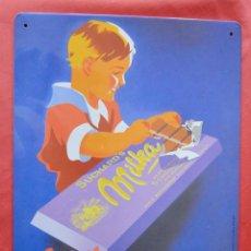 Carteles: SUCHARD - CHOCOLATE MILKA - CARTEL PUEBLICITARIO DE CHAPA - 30 X 40 CM - REPRODUCION. Lote 81094012