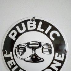 Posters - Cartel chapa esmaltada telefono publico,public telephone,telefonos - 83125860