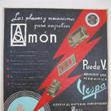 Carteles: CARTEL EXPOSITOR ORIGINAL HECHO A MANO - MAQUETA - SIMÓN MATERIAL ELÉCTRICO - AÑOS 50/60.. Lote 83409156