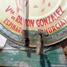 Carteles: RARISIMO DOSIFICADOR ,COMERCIO, INSECTICIDA VIRAGON, ESPINARDO, MURCIA, 42 CTM. Lote 84015540