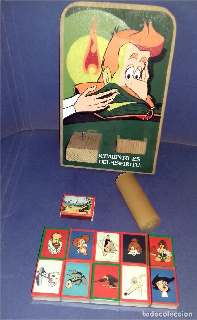 Carteles: MADERA - PORTAVELAS SERIGRAFIADO DE LA SERIE DON QUIJOTE DE LA MANCHA (1979) + 21 CAJAS DE CERILLAS - Foto 3 - 85498508