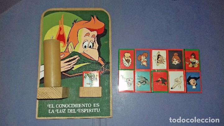 Carteles: MADERA - PORTAVELAS SERIGRAFIADO DE LA SERIE DON QUIJOTE DE LA MANCHA (1979) + 21 CAJAS DE CERILLAS - Foto 4 - 85498508