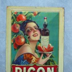 Carteles: CHAPA ART NOUVEAU ORIGINAL PICON EN MUY BUEN ESTADO. FRANCIA 1900 - 1920. Lote 86064020