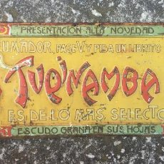 Plakate - CHAPA PUBLICIDAD PAPEL DE FUMAR TUPINAMBA DECORACION ALCOY TINTORE Y OLLER BARCELONA (35) - 86445236