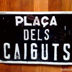 Carteles: ANTIGUA CHAPA-LA PLAÇA DELS CAIGUTS-PLAZA DE LOS CAIDOS (40CMS. X 25CMS) DESCRIPCIÓN. Lote 87129064