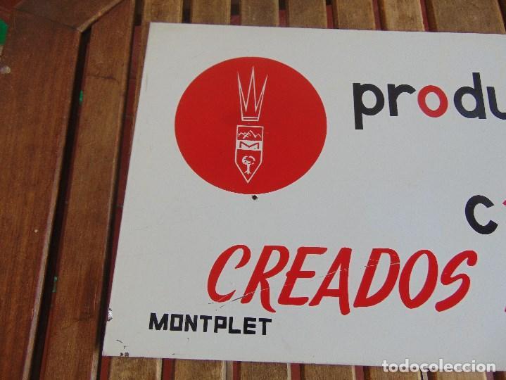 Carteles: CHAPA DE PUBLICIDAD PRODUCTOS DE CALIDAD CREADOS PARA UD MONTPLET - Foto 2 - 87179140