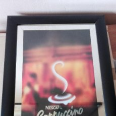 Carteles: CARTEL CAFE CAPPUCCINO 49X36 CM. Lote 87348960