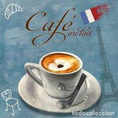 Carteles: CUADRO PARA BAR - CAFE CON LECHE - TAMAÑO 70X70 CM.. Lote 87372336