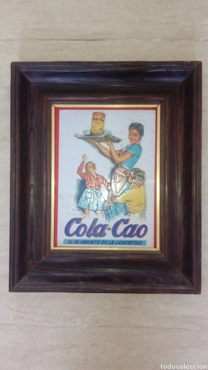 cartel chapa antiguo colacao en marco de madera - Comprar Carteles ...