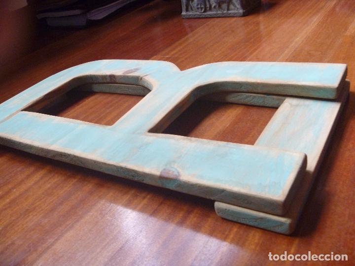 Carteles: Letra L y letra R madera gran tamaño color verde musgo - Foto 5 - 89509684
