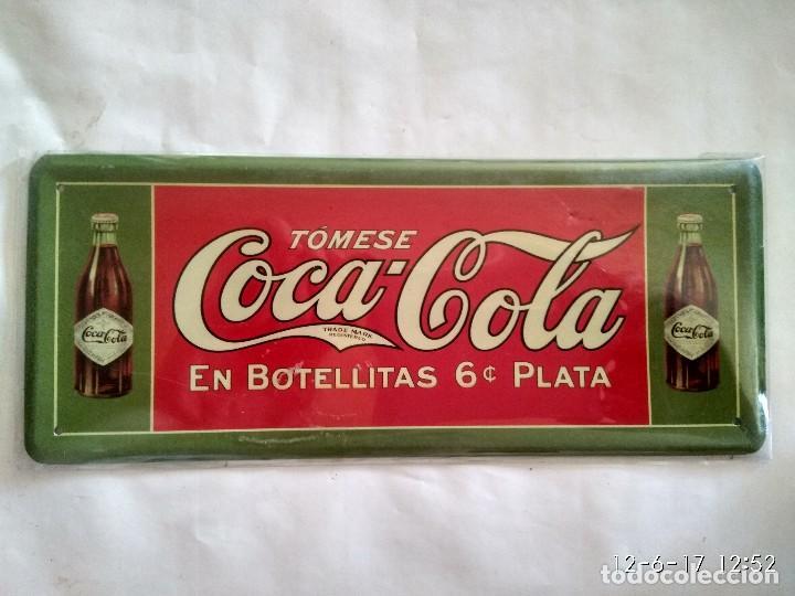 Placa o chapa publicidad coca cola reproducci comprar - Chapa coca cola pared ...