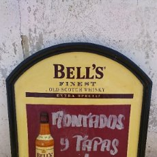 Affiches: PUBLICIDAD WHISKY BELL´S EN MADERA. Lote 91760005