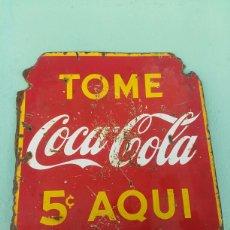 Carteles: CHAPA COCA COLA DOBLE CARA CUBA. Lote 91806960