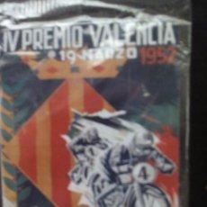 Carteles: PLACA METÁLICA CARRERA MOTOCICLISTA INTERNACIONAL TROFEO FALLAS 1952. REPRODUCCIÓN. Lote 93377947