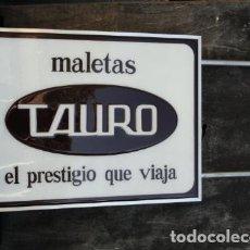 Carteles: PUBLICIDAD. CARTEL DE METACRILATO - MALETAS TAURO -. BANDEROLA. . Lote 94067225