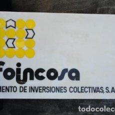 Carteles: PUBLICIDAD. CARTEL DE METACRILATO - FOINCOSA -. BANDEROLA.. Lote 94067875