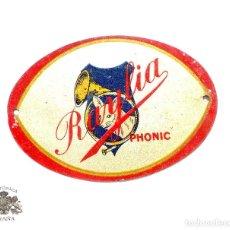 Carteles: CHAPA DE GRAMOLA RAYLIA. Lote 94150705