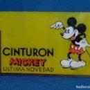 Carteles: DISPLAY MICKEY MOUSE CRISTAL SERIGRAFIADO ANTIGUO AÑOS 30-40 CINTURONES MICKEY VER FOTOGRAFIAS. Lote 94365126