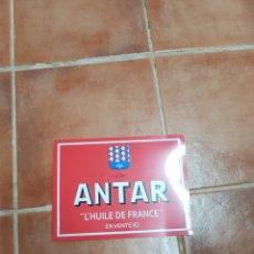 Carteles: PLACA METÁLICA DE DECORACIÓN VINTAGE ANTAR. Lote 95127188