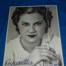 Carteles: (M) CARTON CIGARETTES NATIONALES , MOULLOT - MARSELLE, AÑOS 60 , 64 X 45 CM CIGARRO TABACO. Lote 95129119