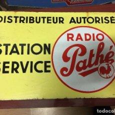Carteles: CHAPA ESMALTADA ESTACION RADIO PATHE. Lote 95984527