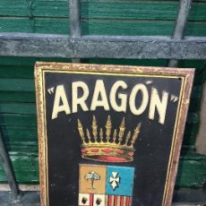 Carteles: ARAGON, CHAPA SEGUROS. Lote 181526326
