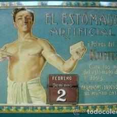 Cartazes: CARTEL METÁLICO. ESTÓMAGO ARTIFICIAL KUNTZ. 17/40. LOS ANUNCIOS DE TU VIDA MÁLAGA 1900 - 1960.. Lote 210657749
