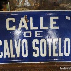 Carteles: PLACA DE ESMALTE CALLE DE CALVO SOTELO. 40 X 25 CM. Lote 96439731