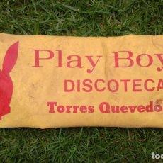 Carteles: ANTIGUO CARTEL PANCARTA PLASTICO DICOTECA PLAY BOY'S LAS CANTERAS LAS PALMAS GRAN CANARIAS AÑOS 70. Lote 96977183