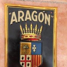Carteles: CHAPA , PLACA DE SEGUROS ARAGON , G DE ANDREIS , AÑOS 40-50. Lote 96999163