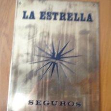 Carteles: CHAPA SEGUROS LA ESTRELLA. Lote 97085071