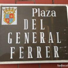 Carteles: PLACA CALLE GENERAL FERRER DE PALENCIA. Lote 97650540