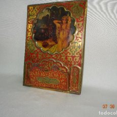 Carteles: CHAPA CARTEL EN HOJALATA LITOGRAFIADA POR G. DE ANDREIS PUBLICIDAD OBSEQUIO DE LA CASA SERVUS KAOL. Lote 97700675
