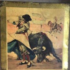 Carteles: CARTEL CHAPA LITOGRAFIADA - CALENDARIO AÑO 1960 - TAUROMAQUIA - INDUSTRIAS METÁLICAS VIZCAÍNAS. Lote 99305895