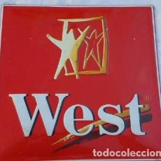 Carteles: CIGARRILLOS WEST. Lote 99910819