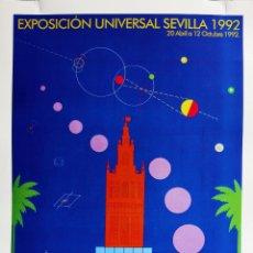 Affissi: LAMINA CARTEL POSTER ANUNCIADOR EXPO 92 SEVILLA PUBLICIDAD EXPO92. Lote 100638359