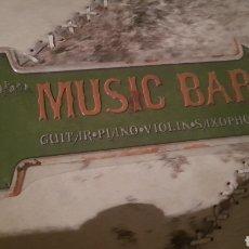 Carteles: CARTEL METÁLICO DE MUSIC BAR. Lote 101405656