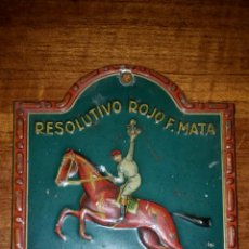 Carteles: CHAPA DE HOJALATA LITOGRAFIADA RESOLUTIVO ROJO QUE SE MATAN ANTICOLICO CICATRIZANTE VELOX 1920. Lote 101703687