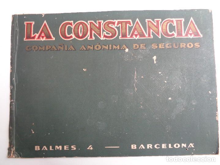 LA CONSTANCIA.COMPAÑIA ANONIMA DE SEGUROS DE BARCELONA (Coleccionismo - Carteles y Chapas Esmaltadas y Litografiadas)