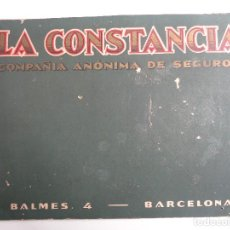 Carteles: LA CONSTANCIA.COMPAÑIA ANONIMA DE SEGUROS DE BARCELONA. Lote 104103011