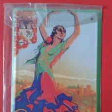 Carteles: CARTEL CHAPA PUBLICITARIA DE METAL LOS ANUNCIOS DE TU VIDA MALAGA , GRANADA 1928. Lote 104316595